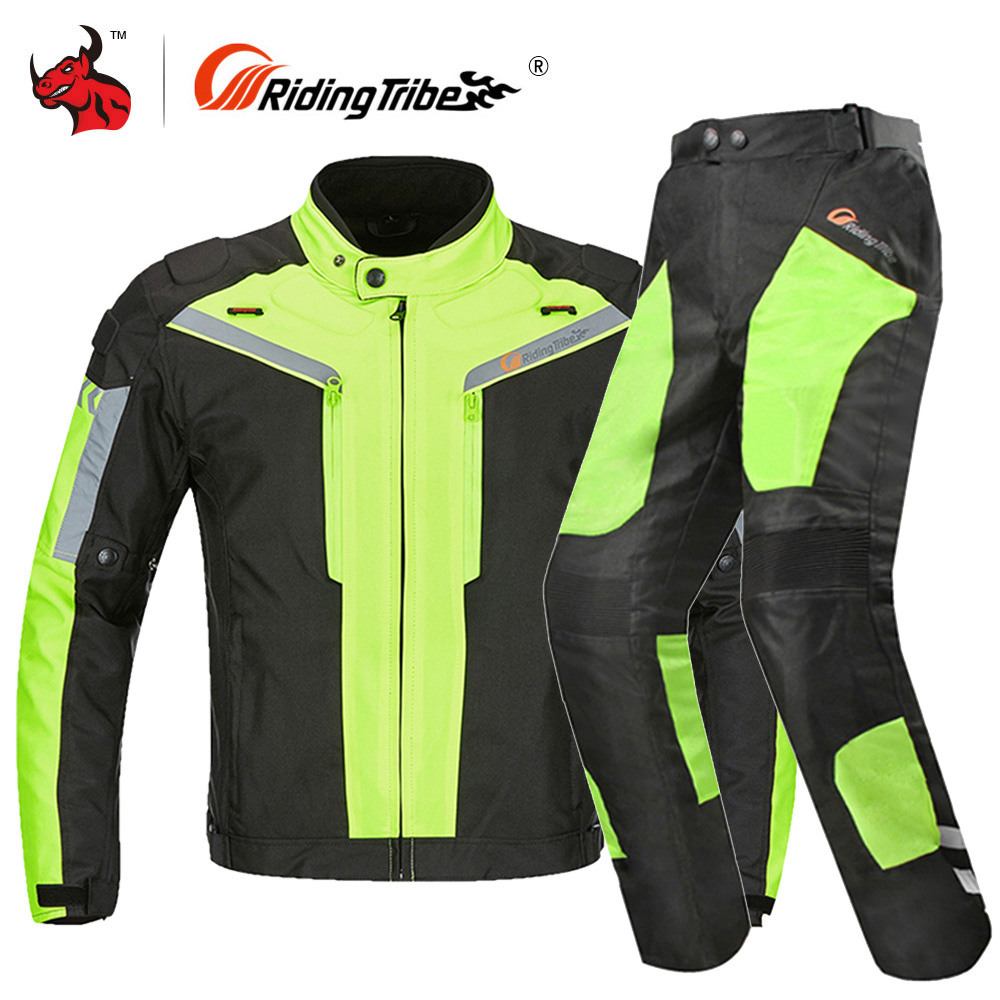 Riding Tribe Motorcycle Jacket Men Waterproof Full Body Protective Motorbike Riding Jacket Clothing Protective Gear For 4 Season