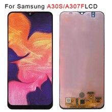 """6.4 """"AMOLED 삼성 갤럭시 A30s A307F A307 A307FN LCD 디스플레이 화면 교체 디지타이저 어셈블리 TFT lcd 프레임 무료"""