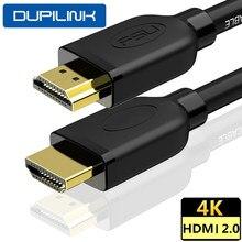 DUPILINK HDMI кабель HDMI 2,0 1,4 V 4K HDMI кабель 60Hz HDMI к HDMI удлинитель Кабель 3 m 5 10 метров для ПК PS4 ТВ ноутбука проектор