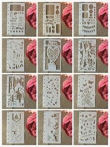 12 шт./компл. A6 сердце животные DIY ремесло наслоение трафареты настенная живопись штампованная для скрапбукинга тиснильный альбом шаблон бумажной карты