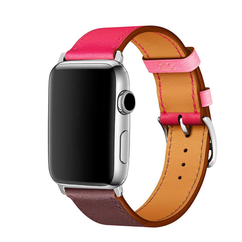 Eastar Laccio di Cuoio di Alta Qualità per Apple Watch Band Series4 3/2/1 Braccialetto di Sport 42 Millimetri 38 mm Cinghia per Iwatch Fascia 5 40 Millimetri 44 Millimetri