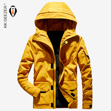 Winter Jacket Men Down Hooded Thick Warm Windproof Fashion Casual Business Street Duck Parkas Padded Waterproof Loose Overcoat