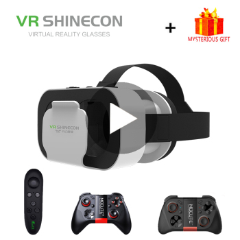 VR Shinecon G05A Casque słuchawki okulary do VR 3D kask 3 D dla iPhone smatfon z androidem Smartphone gogle mobilne tanie i dobre opinie Brak Smartfony Lornetka Wciągające Virtual Reality Kontrolery Zestawy Pakiet 1 Virtual reality vr gaming glasses smart android ios