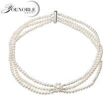 Настоящее натуральное пресноводное многослойное маленькое жемчужное ожерелье для женщин, милый чокер белое Жемчужное Ожерелье Подарок на годовщину