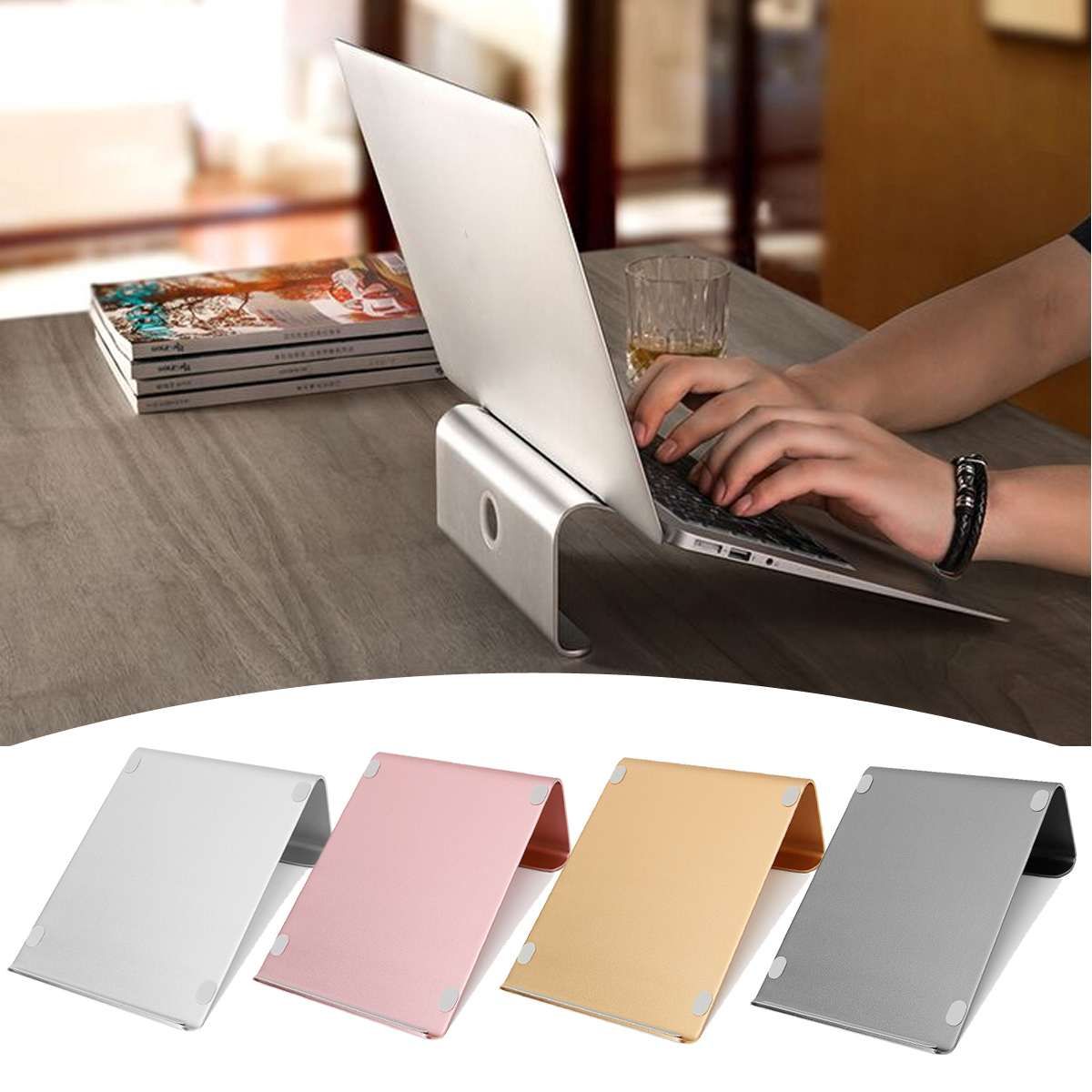 YUNAI Aluminum Alloy Notebook Bracket Cooling Base Adjustable Laptop Stand Holder Portable For 11-17 Inch Tablet Laptop Notebook