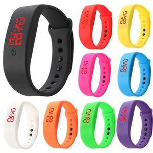 Детский силиконовый ремешок со светодиодным дисплеем, спортивный браслет, электронные цифровые часы, relogio masculinos zegarek damski 2019, лидер продаж