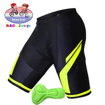Dziecięce 2021 rowerowe wygodne gąbki żelowe 3D wyściełane spodenki rowerowe dziecięce spodenki rowerowe dziecięce spodenki rowerowe tanie i dobre opinie Chłopcy POLIESTER spandex Stretch Spandex CN (pochodzenie) Przeciwpotne Szybkoschnące Ochrona przed promieniowaniem UV