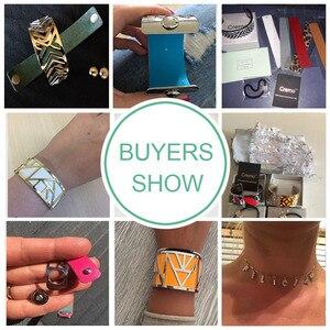 Image 5 - Cremo سوار ذراع أساور للنساء مجوهرات الفولاذ المقاوم للصدأ سوار Manchette للتبادل حلقة من جلد Pulseiras