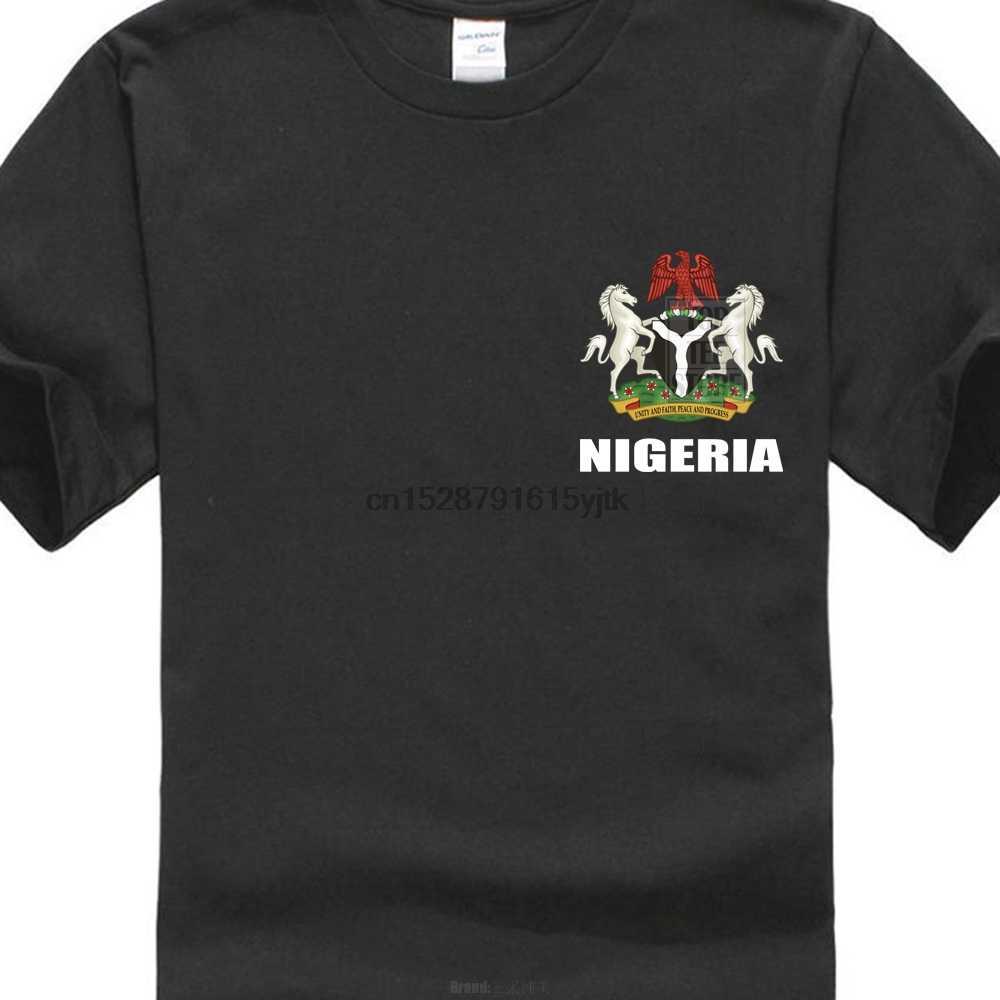 Nigeria Bandiera Nigeria Calciatore Ventilatore T Shirt Uomo Tee Camicia Magliette e camicette Del Manicotto Del Bicchierino Del Cotone di Fitness T-Shirt