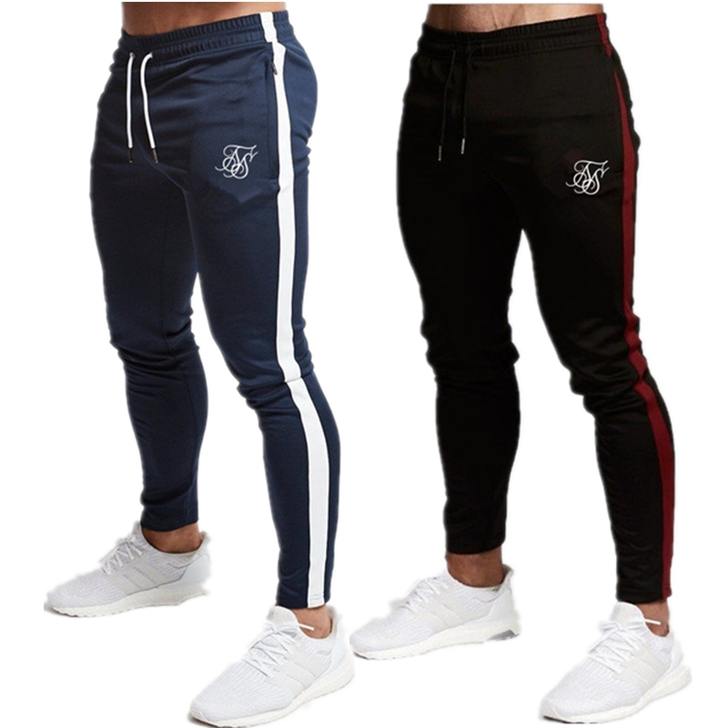 Мужские высококачественные шелковые брюки Sik, повседневные штаны из полиэстера для фитнеса, повседневные спортивные штаны для тренировок, бега