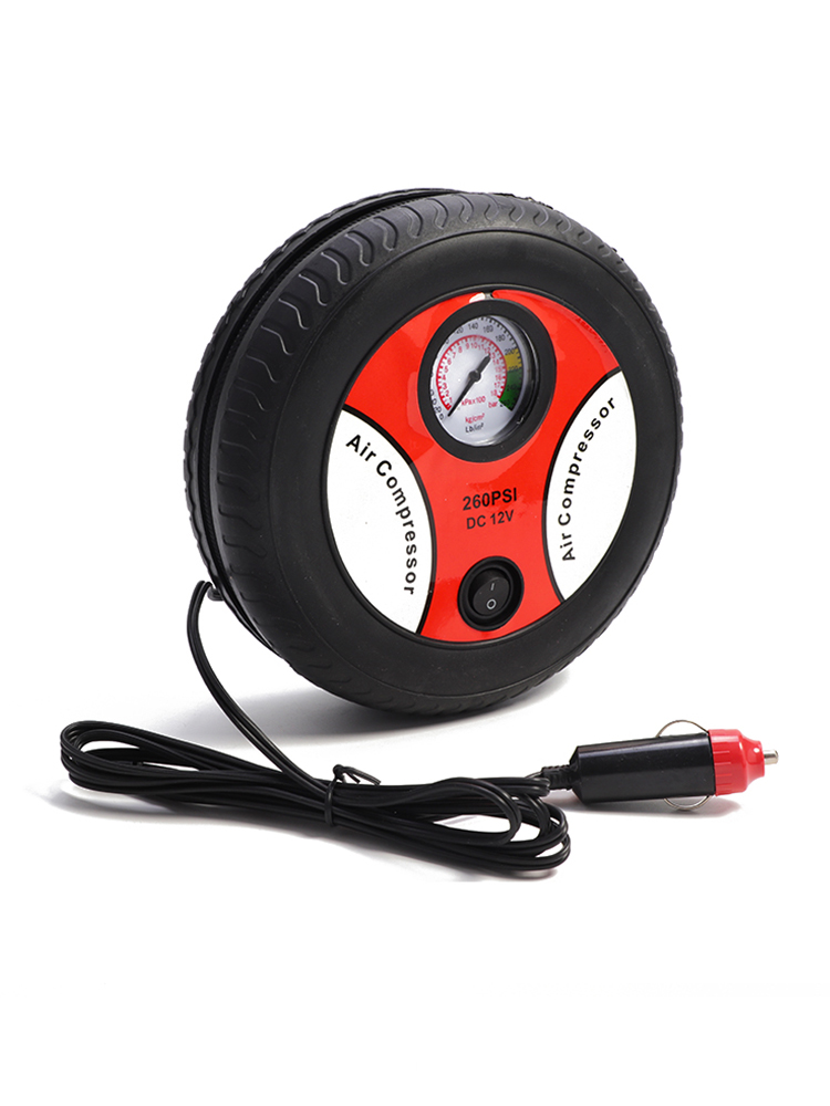 Electric Tire Inflator DC 12 Volt Car Portable Air Compressor Pump 260 PSI Car Air Compressor for Car Motorcycles Bicycles