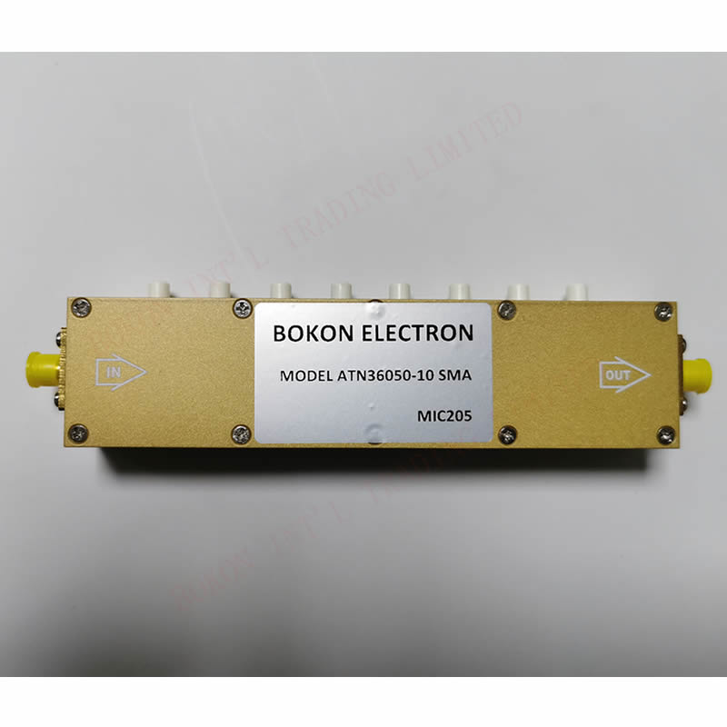0-60dB 10Watts Manual Attenuator DC-3.0GHz 50Ohms 1dB Steps SMA Step Attenuators ATN36050-10 SMA KEY PRESS