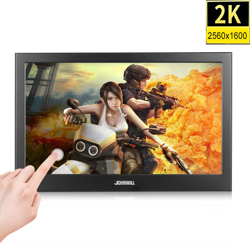 10.1 inch 2K Touch Screen Portable gaming monitor pc ips LCD Display 13.3 inch small Mini HDMI Tablet Computer Monitor for PS3 4 image