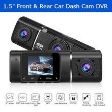 Blueskysea Car DVR Dash Cam 1.5 170° Wide Angle Dual Lens Front & Rear 1080P +720P  H190 Camera Night Vision Dashcam