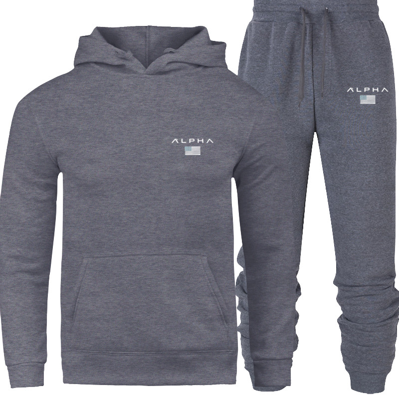 2020 Hoodied Printed Sports Suit For Men And Women Sports Hoodie + Sweatpants Casual Long-sleeved Pullover Hoodies