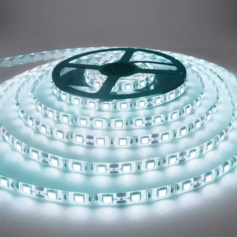 5M 300 Lampu LED Strip Non Waterproof DC12V Ribbon Tape Lebih Cerah SMD3528 Dingin Putih/Warm/Es biru/Merah/Hijau/Biru