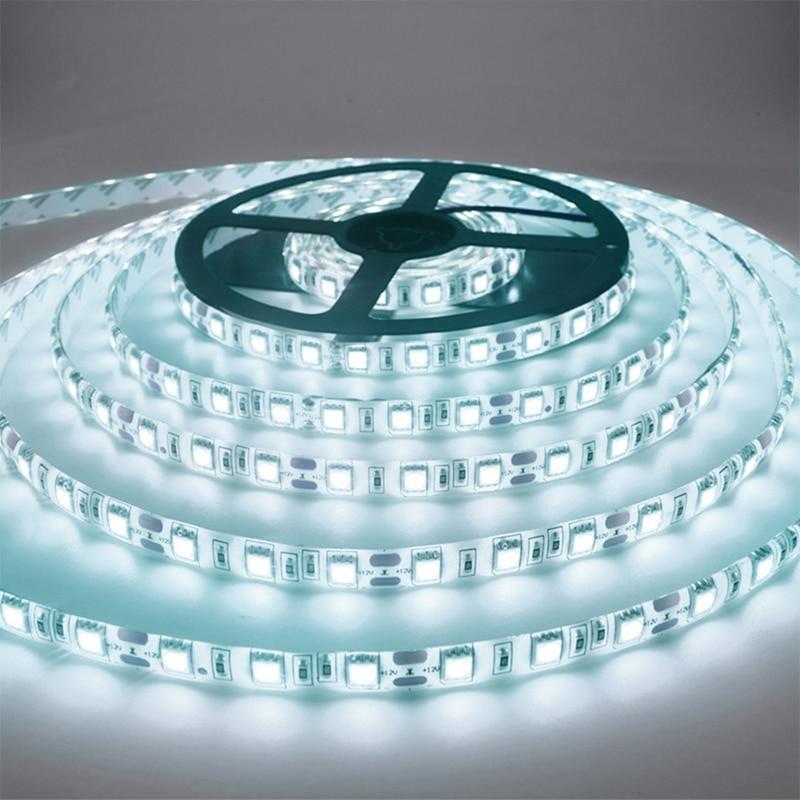 5M 300 LED Strip Light กันน้ำ DC12V ริบบิ้นเทปสว่างกว่า SMD3528 สีขาว/WARM White/ICE สีฟ้า/สีแดง/สีเขียว/สีฟ้า