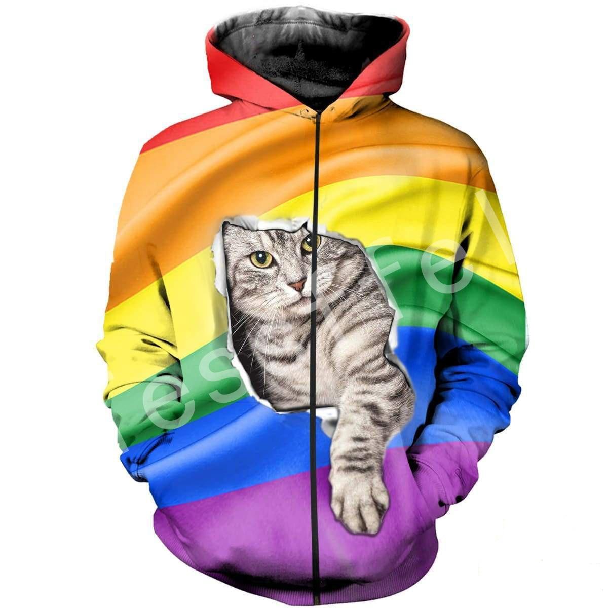 Tessffel Animal Cat Harajuku MenWomen HipHop 3D full Printed Sweatshirts Hoodie shirts Jacket Casual fit colorful camo Style 8 in Hoodies amp Sweatshirts from Men 39 s Clothing