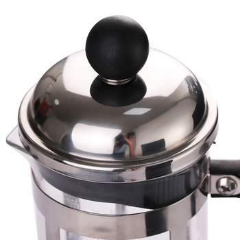 French Presses Coffee Pot Practical Coffee Maker Multifunctional Durable Coffee Kettle Teapot Stainless Steel Glass Coffeeware 5