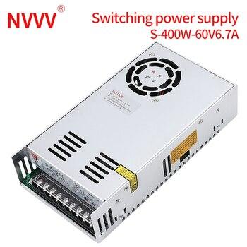 NVVV switching power supply 15 w-400 w ac110/220v dc 5v 12 v 24 v 36 v 48 v60 v dc power supply (400w60v6.7a for RD6006) 2019 gray washable vacuum cleaner filter dust bag for lg v 2800rh v 943har v 2800rh v 2810