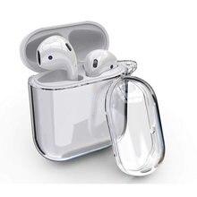 Cristal mignon étui pour écouteurs pour Apple AirPods étui Silicone Transparent housse de protection pour Airpods accessoires boîte de charge