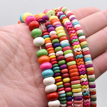 Turquesa grânulos soltos espaçador grânulos para fazer jóias cor turquesa grânulos de pedra acessórios 15