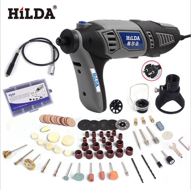 Electric Hilda Mini Drill Polishing Grinder Machine Variable Speed Power Tools with 7/91pcs Rotary Tool Accessories