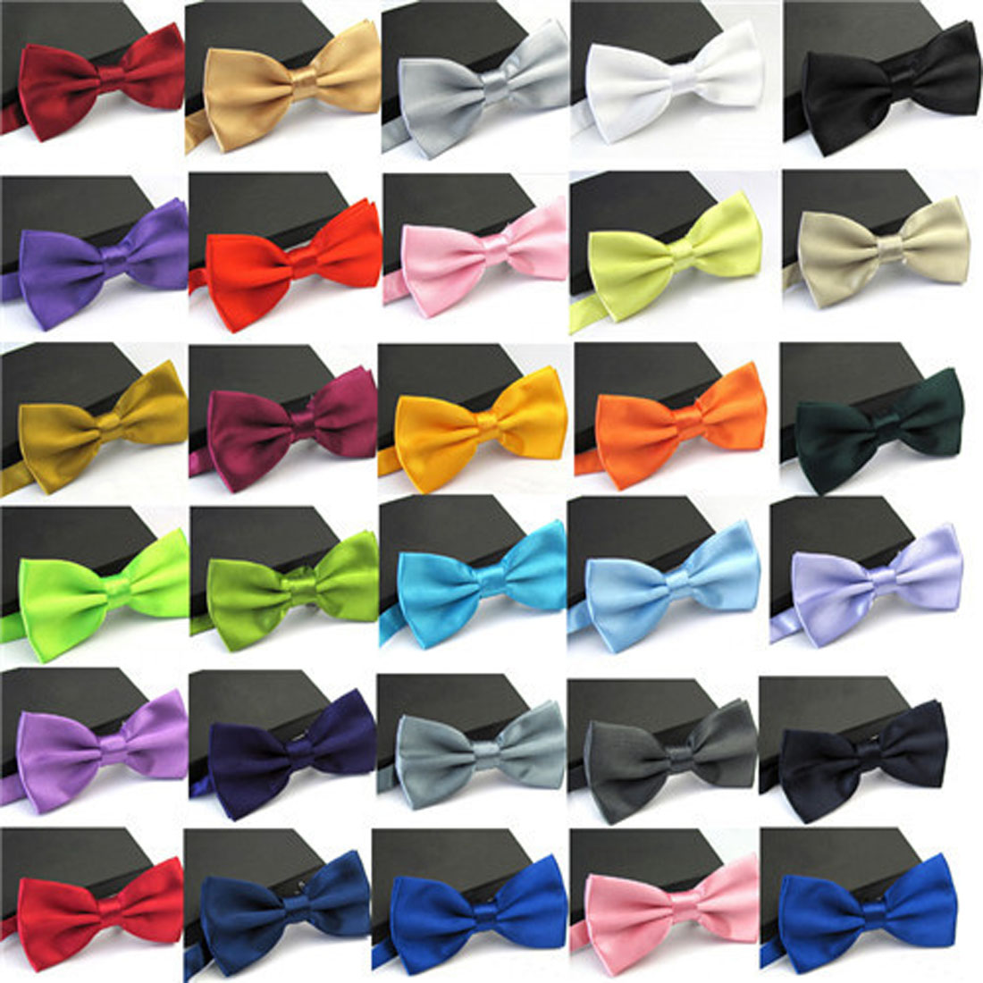 Bow Tie Male Solid Color Marriage Bow Ties For Men Candy Color Butterfly Cravat Bowtie Butterflies Classic Kid Boys Bowtie