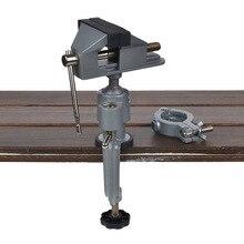 2 в 1 настольный тиски Настольный зажим 360 зажим Настольный шлифовальный станок держатель сверла Dremel для вращающегося инструмента ремесло модельные инструменты металлический рабочий инструмент