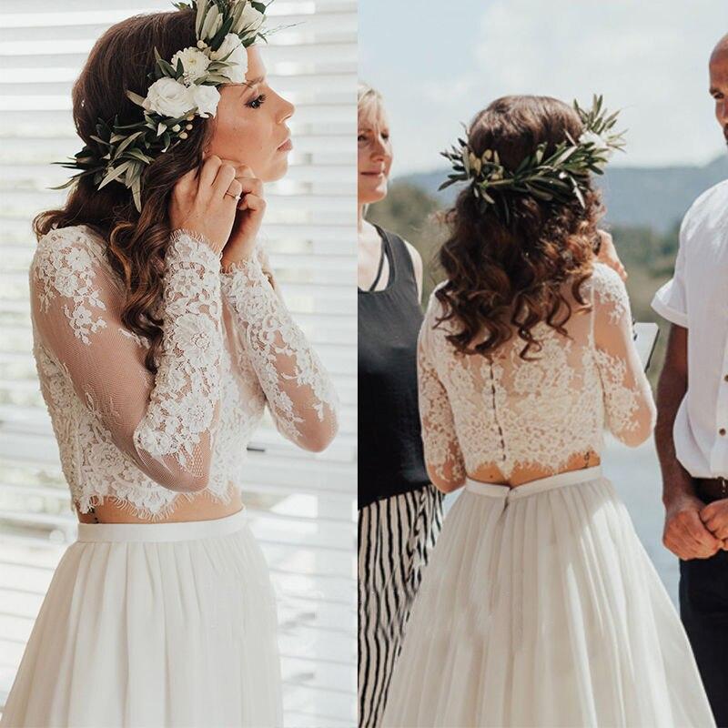 Long Sleeve Ivory Wedding Jacket Lace Top Lace Applique Bridal Bolero Elegant Bride Wraps Custom Made Jackets