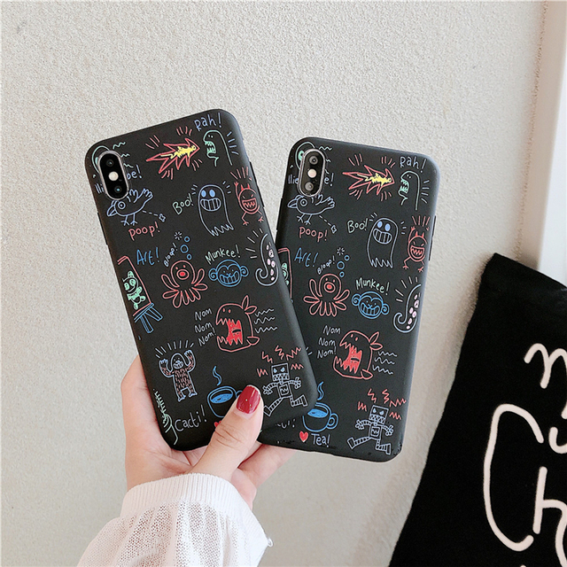 Ottwn Fashion Graffiti Pattern Phone Cases For iphone