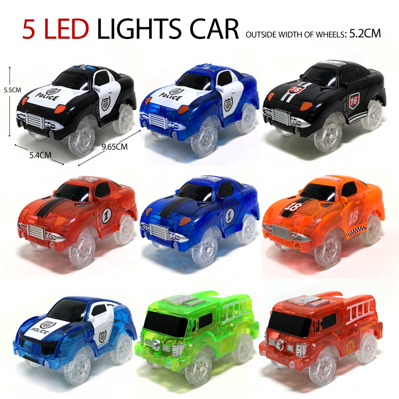 Magic Track Electric Car,5 LED Lamp,toy Parts, Car Rail Racing Track, Educational Kids Toys For Boys Toy Cars,birthday Gifts