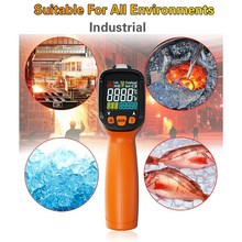 цены Digital Infrared Thermometer LCD Display Pyrometer Non-contact Infrared Thermometer with Remote Sensor Laser Indoor Outdoor