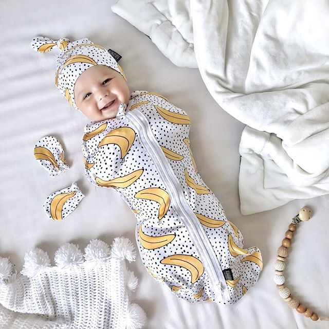 0-6M Infant Newborn Baby Boys Girls Zipper Sleeping Bags Blanket Swaddle Muslin Wrap Swaddling+Hat Flamingo Panda Banana