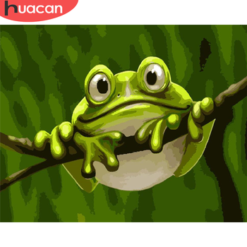 HUACAN Paint By Number Frog Hand Painted Painting Art Drawing On Canvas Gift DIY Pictures By Numbers Animal Kits Home Decor
