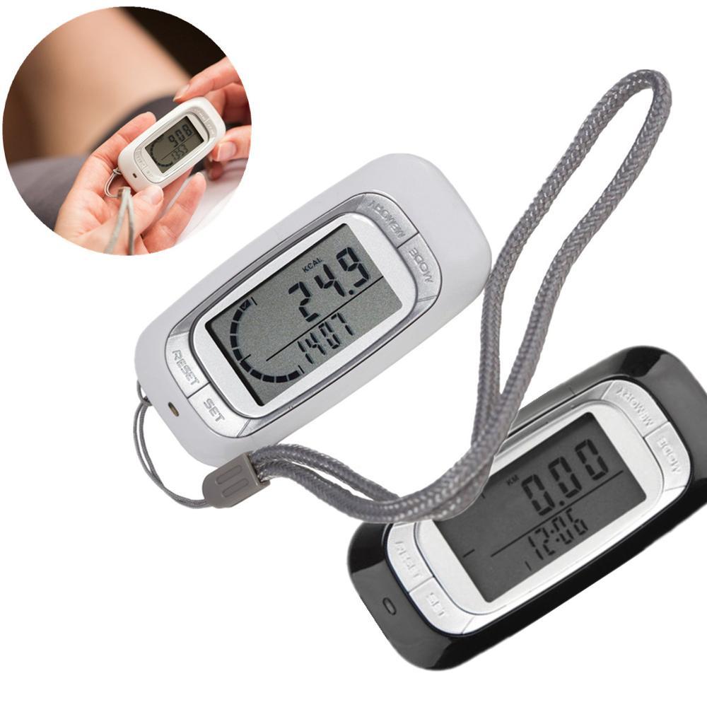 Pedometer Calculator Steps-Counter Calorie Fitness Walking Clip-On Running 3D Sensor