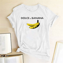 Funny T Shirt Dolce&banana Printed Women Short Sleeve Harajuku Ulzzang Tumblr T Shirt Fashion Fruit