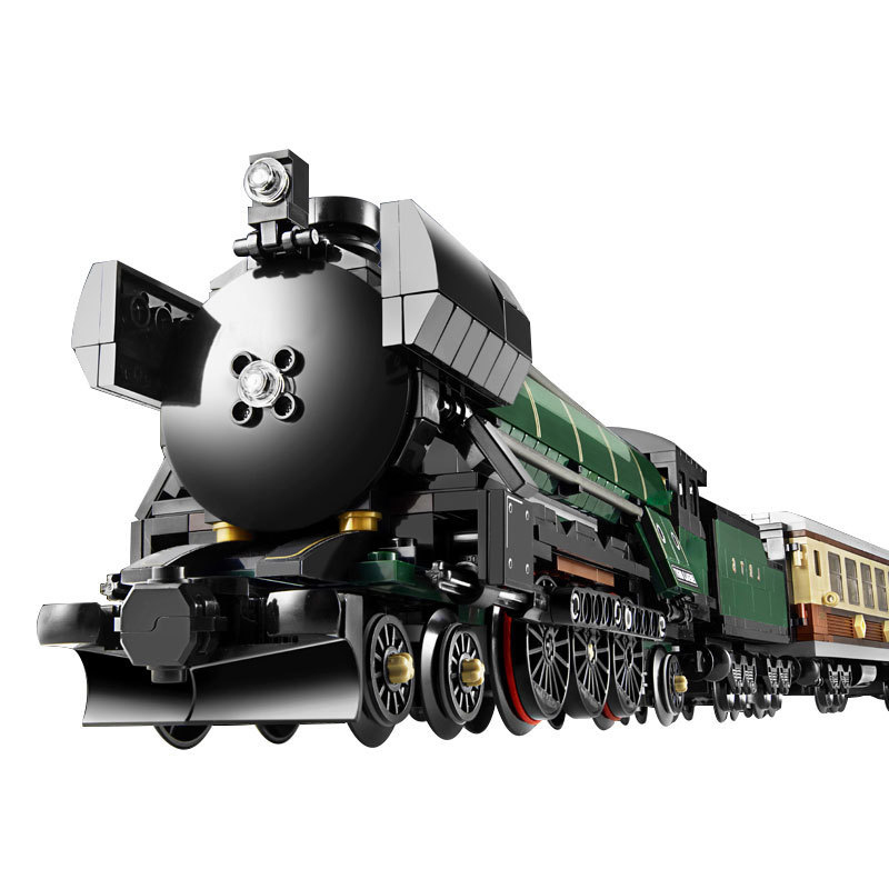 908Pcs Railway Dream Technic Series Emerald Night City Train Model Building Kit Block Bricks Compatible Technic Toys