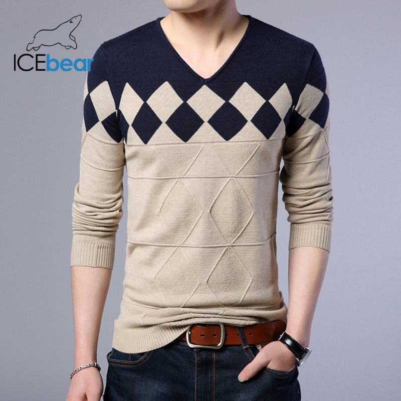 ICEbear 2019 Autumn New Male Sweater Casual Men's Pullover Brand Men's Clothing  1720