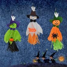 Uds fantasma de Halloween decoración de interior/al aire libre Specter fiesta Bar suministros colgante Garland decoración para fiesta de Halloween