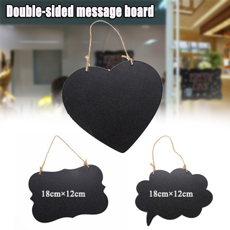 Slate Sign Double Sided Message Board With Hanging Rope Party Direction Signs Multifunctional GV99