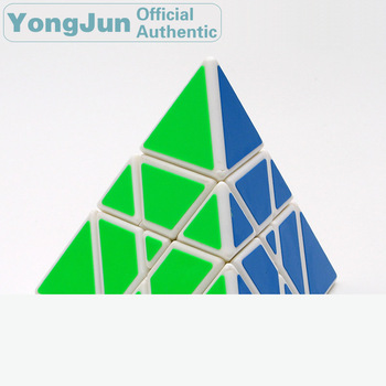 YongJun Tower Pyramid 3x3x3 Magic Cube YJ 3x3 Professional Speed Puzzle Antistress Educational Toys For Children yongjun mirror 2x2x2 magic cube yj 2x2 professional speed puzzle antistress educational toys for children