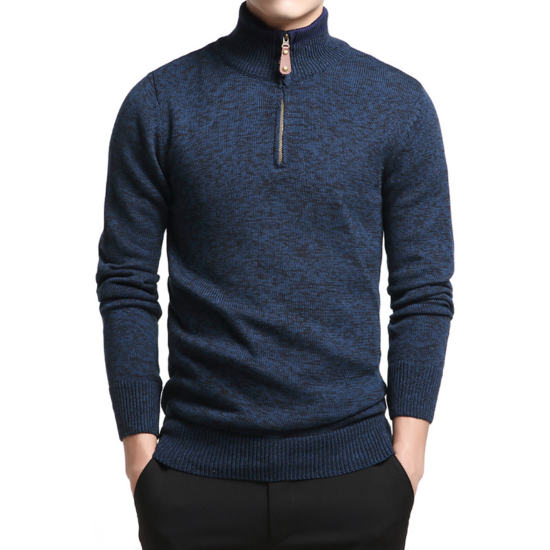 Winter Mens Sweaters 2020 Autumn Warm Cotton Pullover Men Knitted Turtleneck Sweater Men Heavy Jumper Pull Homme with Zipper 3XL