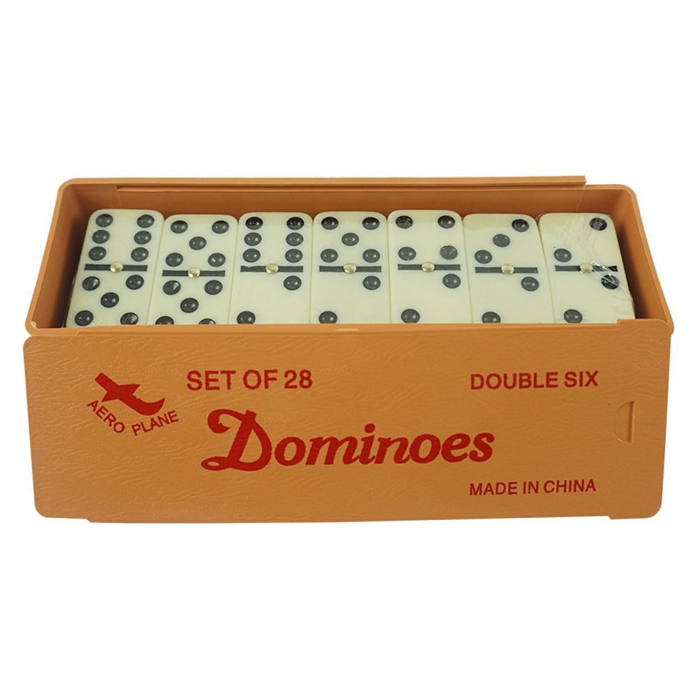Double 6 ensemble de jeu de Table de dominos professionnels de qualité supérieure pour enfants et adultes