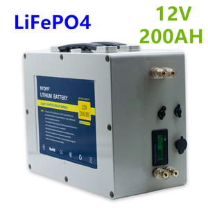Lifepo4 12v 200ah battery pack lifepo4 12V lithium battery pack built-in BMS for electric motor of boat,golf cart,solar system(China)