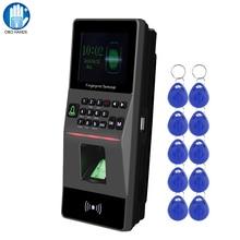 RFID erişim kontrolü tuş takımı tcp/ip USB biyometrik parmak İzi okuyucu kontrol sistemi yazılımı desteği zaman devam + 10 tuşları