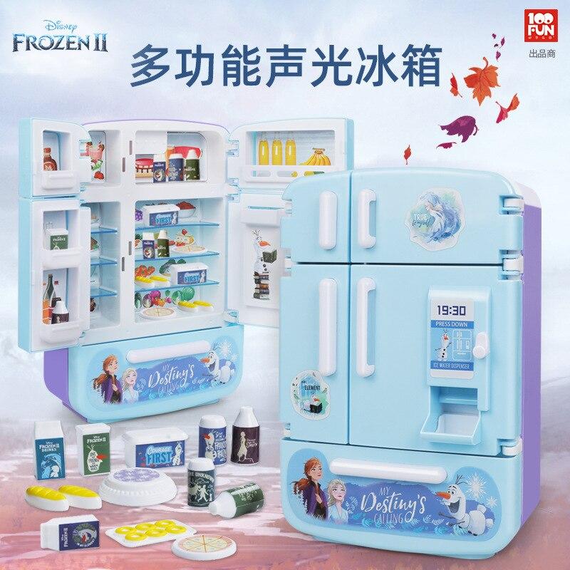 Disney Frozen 2 Princess Elsa Anna Fridge Fun Gift Kids  Pretend Toy Play Home Appliances Kitchen Toy Gift  Girl Toys