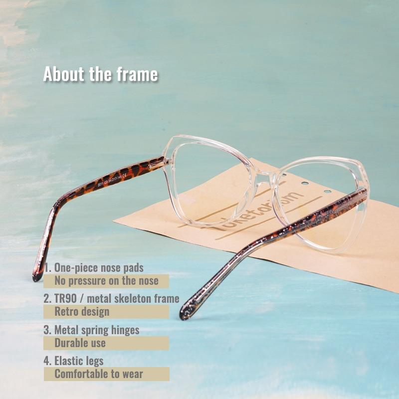 Женские прозрачные очки toketorism компьютерные с защитой от
