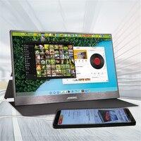 Сенсорный экран HD игровой портативный монитор 15,6