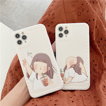 Phone-Case Photo-Frame Back-Cover Silicon Cartoon Matte for 7/8-plus/11-pro/.. Soft-Imd
